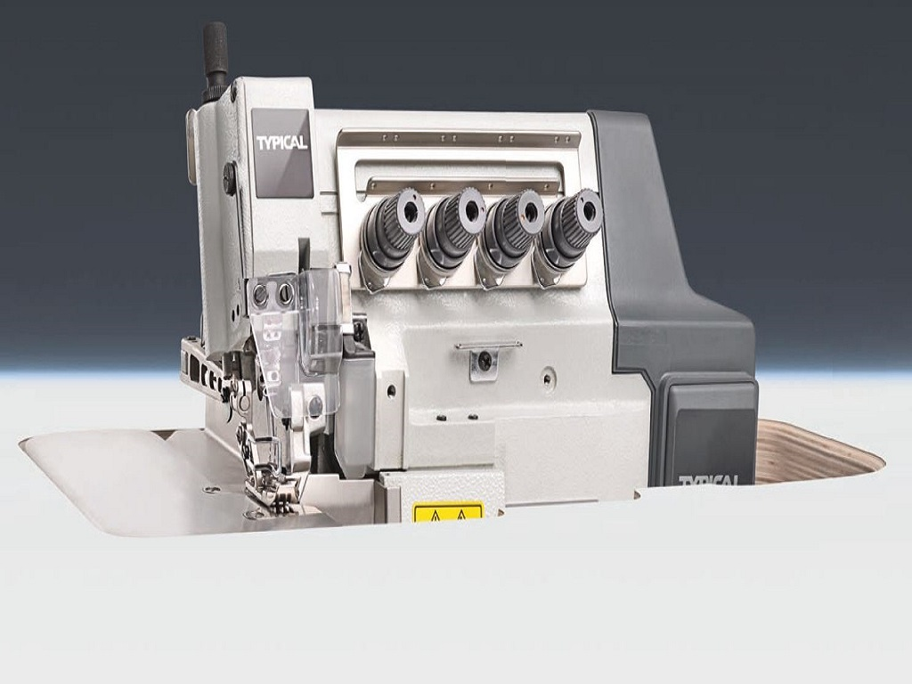 Super high speed 4-thread backtacking overlock machine