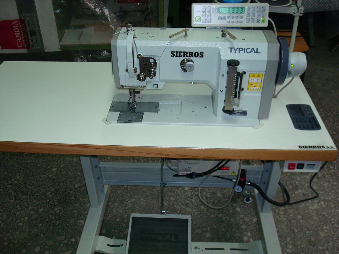 Compound Feed Lockstitch Sewing Machine with thread trimmer