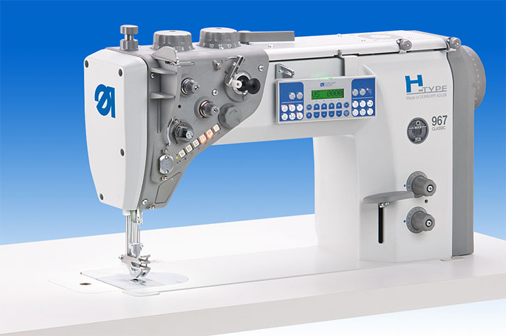 Heavy single needle lockstitch machine with integrated direct drive