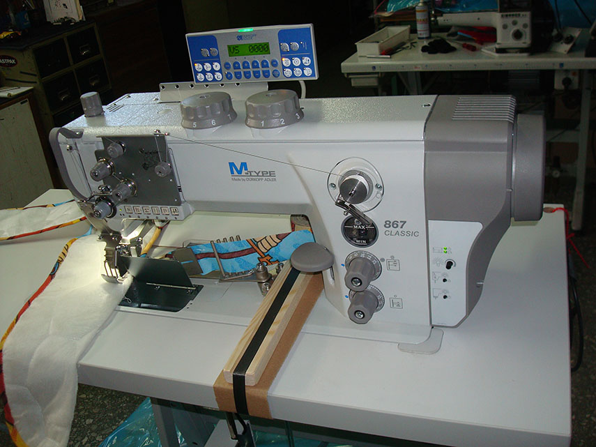 M-TYPE  Sewing, trimming and binding