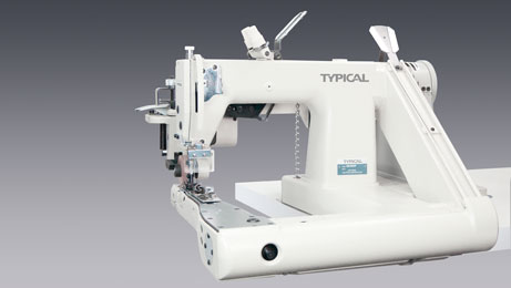 Feed of arm chainstitch sewing machine with puller