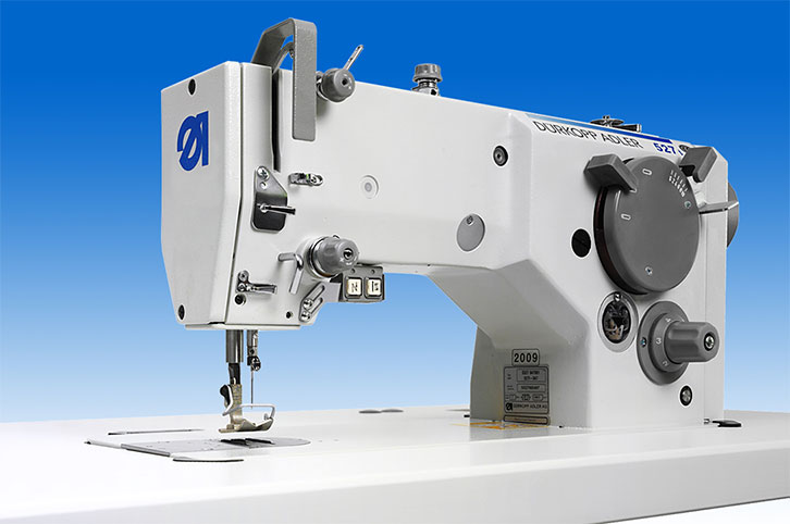 Single needle lockstitch zigzag machine with automatic thread trimmer