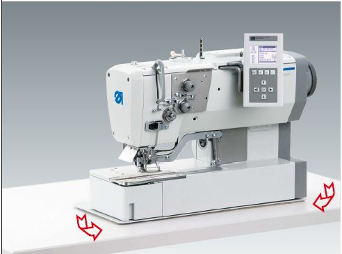CNC - controlled automatic lockstitch buttonholer with step motor technology
