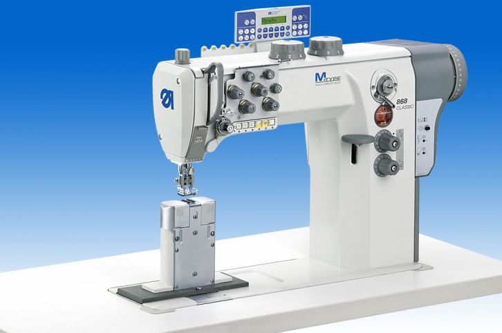 Twin needle lockstitch postbed machine with DA Direct Drive