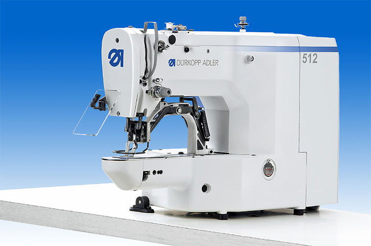 CNC controlled lockstitch bartacking machine