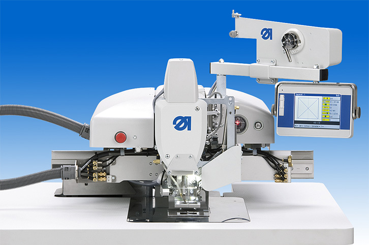 CNC controlled lockstitch sewing unit with max. sewing area of 300 x 200 mm for free programmable sewing operations