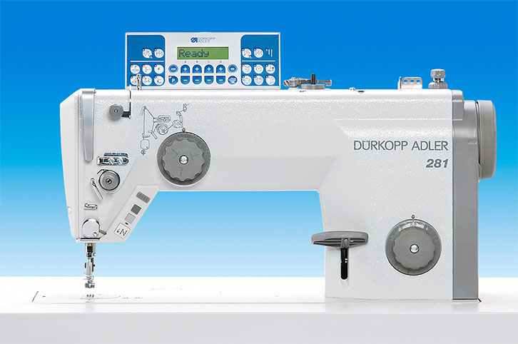 Single needle lockstitch machine with bottom feed